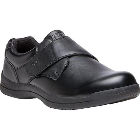 Propet Men's Marv Adjustable Strap Shoe Black Synthetic