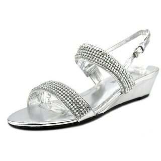 Rampage Srixy Open Toe Synthetic Wedge Sandal