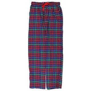 Jane & Bleecker Womens Plaid Printed Trim Lounge Pants - S