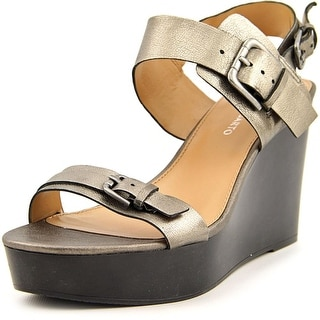 Franco Sarto Demira Women Open Toe Leather Wedge Sandal