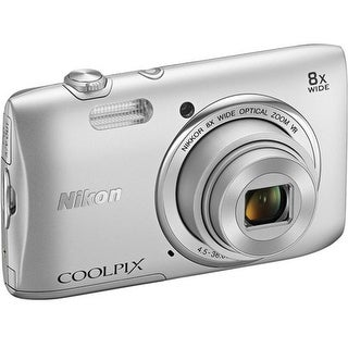 Nikon Coolpix 26451 S3600 20.1 Megapixels Digital Camera - 8x (Refurbished)