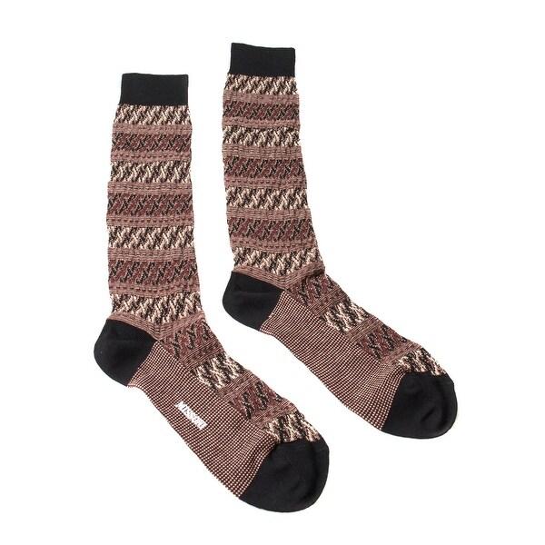 Missoni GM00CMU5243 0001 Maroon/Black Knee Length Socks