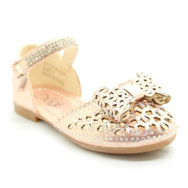 Shop Little Girls Pink Glitter Bow Rhinestone Strap Dress Shoes - Free  Shipping On Orders Over  45 - Overstock - 23090271 8a2f4ed71f65
