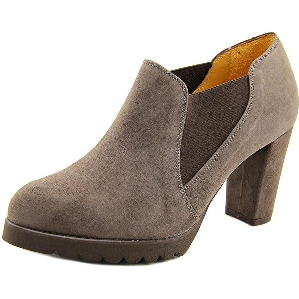 Firenze.Studio Kylie Women Round Toe Suede Brown Ankle Boot