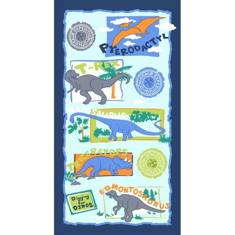 Dinosaurs 28x51 Kids Brazilian Velour Beach Towel