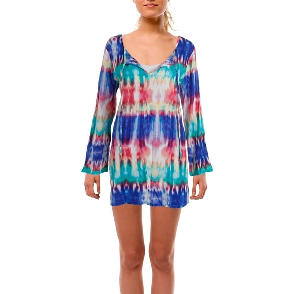 925f9c9d156 Shop La Blanca Womens Antigua Long Sleeves Tunic Swim Top Cover-Up - M -  Free Shipping On Orders Over $45 - Overstock - 20684054