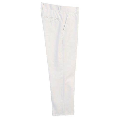 Boys White Flat Front Formal Special Occasion Dress Pants 8-18