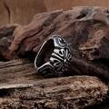 Vienna Jewelry Mini Rose Petal Stainless Steel Ring - Thumbnail 1
