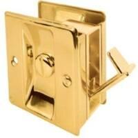 Prime Line 161495 Pocket Door Privacy Lock, Bright Brass