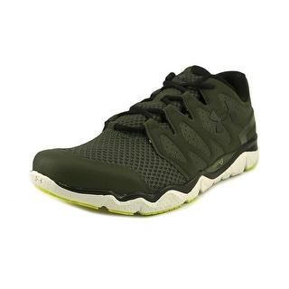 Under Armour Micro G Optimum Men Round Toe Synthetic Green Running Shoe