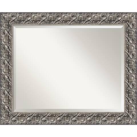 Wall Mirror, Silver Luxor Wood