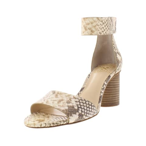 8ff8f6c48cc Vince Camuto Womens Jacon Heels Leather Snake Embossed