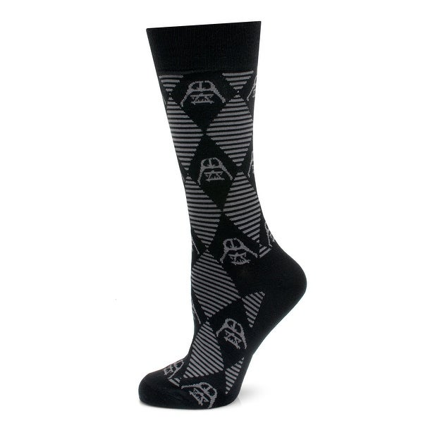 Star Wars Darth Vader Black / Gray Argyle Dress Socks