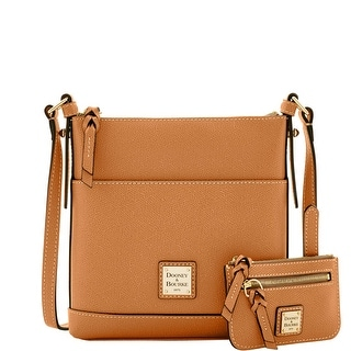 Dooney & Bourke Calf Letter Carrier with Small Coin Case (Introduced by Dooney & Bourke at $195 in Sep 2016) - Tan