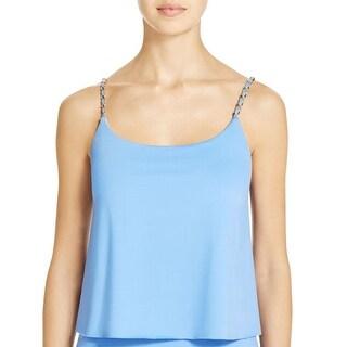 MICHAEL Michael Kors Womens Embellished Layered Swim Top Separates