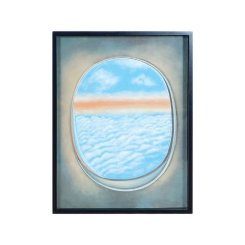 "Dimond Home 7011-1390C Plane Window 40"" x 30"" ""Plane Window III"" Framed Painting on Gallery Stretched Canvas - Blue"