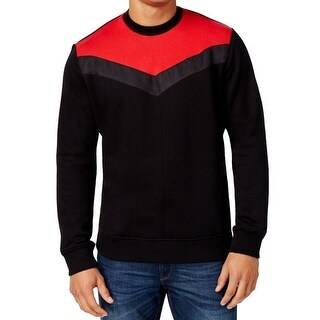 Sean John NEW Black Mens Size 2XL Chevron Knit Colorblock Sweater