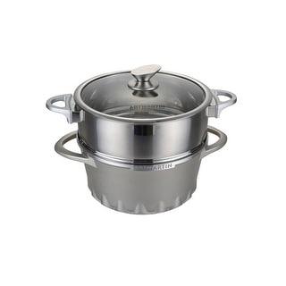 ARTMARTIN Non-Stick Ceramic Round Casserole Boiler Pot & Steamer -10in