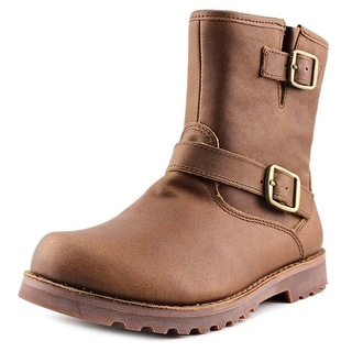 Ugg Australia K Harwell Youth Round Toe Leather Brown Ankle Boot
