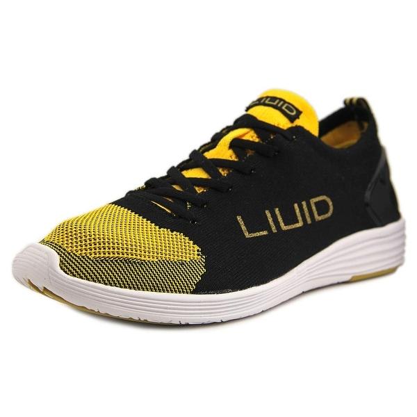 Liuid Alicia 1 Women Round Toe Canvas Black Sneakers