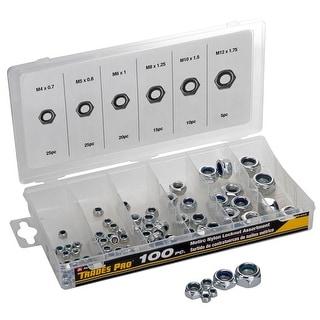 Trades Pro® 100 pc Metric Nylon Locknut Assortment - 836405