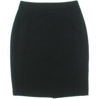 Halogen Womens Petites Ponte Knee-Length Pencil Skirt