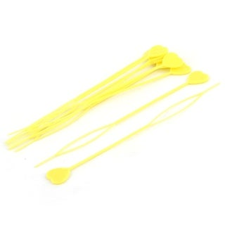 Unique Bargains Girls Yellow Heart Accent Twist Tail Ponytail Styling Maker x 10