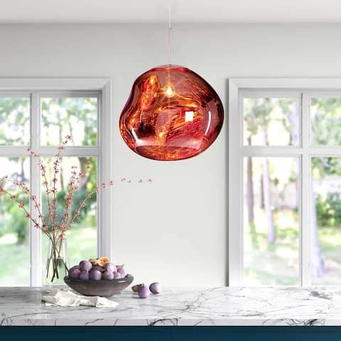 1 - Light Modern Stylish Melt Pendant - Red