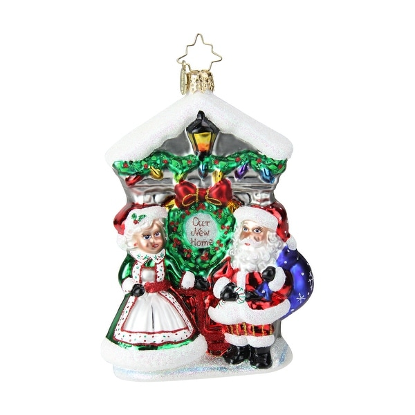 "5.25"" Christopher Radko ""Holiday Threshold"" Glittered Glass Christmas Tree Ornament #1019403 - RED"