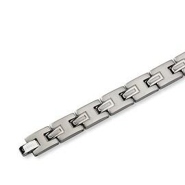 Chisel Brushed and Polished Titanium Bracelet - 8.75 Inches