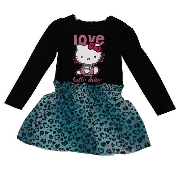 c199083dc Shop Hello Kitty Little Girls Black Blue Leopard Spot