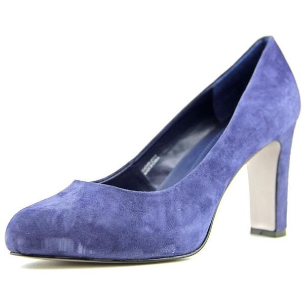 Tahari Dolly Women Round Toe Suede Blue Heels