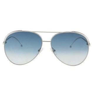 Fendi FF0286S 0010 Palladium Aviator Sunglasses - 63-13-135