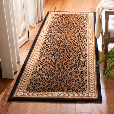 SAFAVIEH Handmade Chelsea Cayla Leopard French Country Wool Rug