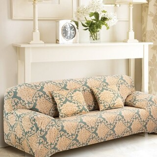 Unique Bargains Flower Pattern Stretch Pattern 16 Loveseat Slipcovers