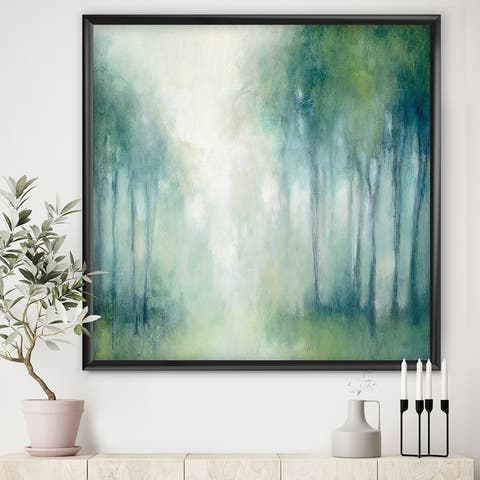 Designart 'Walk in the Forest' Traditional Landscape Premium Framed Art Print
