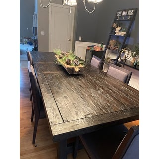 Alpine Newberry Grey Wood Extension Dining Table Overstock 13190281