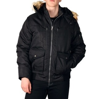 Sean John Men's Hooded Bomber with Faux Fur Trim (More options available)