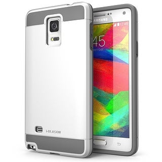 i-Blason Samsung Galaxy Note 4 Case - Unity Series Armored Hybrid TPU plus PC Case - White