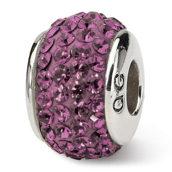 Sterling Silver Reflections February Full Swarovski Elements Bead (4mm Diameter Hole)