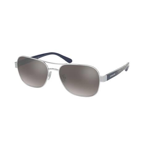 Coach HC7116 90016I 57 Silver Woman Pilot Sunglasses