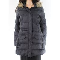 Marc York Black Faux-Fur Hooded Women's Small S Puffer Jacket