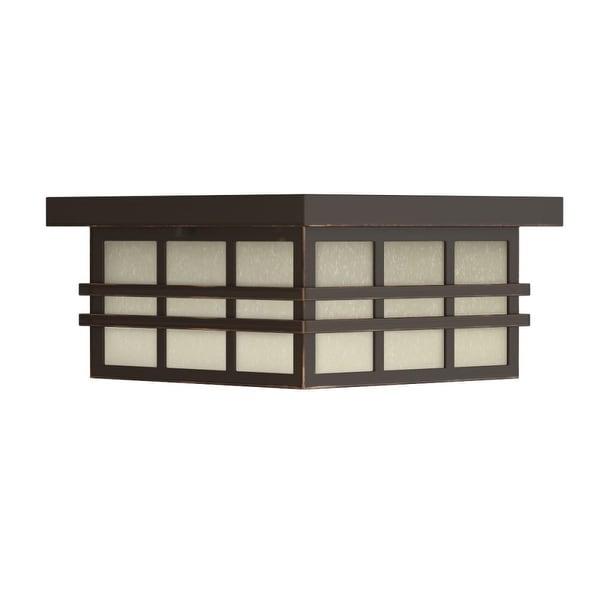"""Park Harbor PHEL1604 Ambler 12"""" Wide 2-Light Flush Mount Outdoor Ceiling Fixture - Oil Rubbed bronze - n/a"""