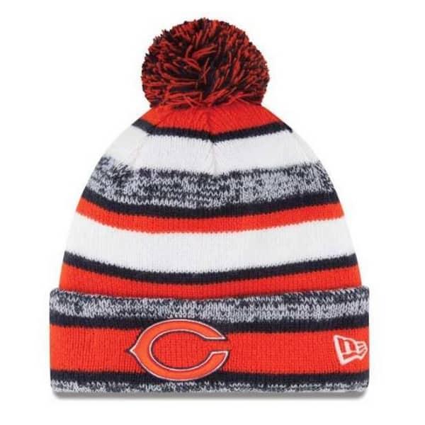 baa6e40f77e04f New Era Chicago Bears NFL Stocking Knit Hat Winter Beanie On Field Pom  11008762. Image Gallery