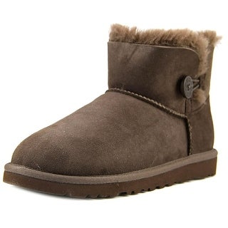 Ugg Australia Mini Bailey Button Girl Choc Boots