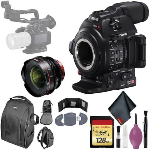 Canon EOS C100 Mark II Cinema EOS Camera - 128GB - CINEMA 14 T3.1 LENS