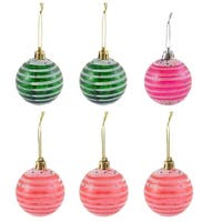 6pcs 58mm Dia Christmas Tree Hanging Balls Ornement Bauble Decorations