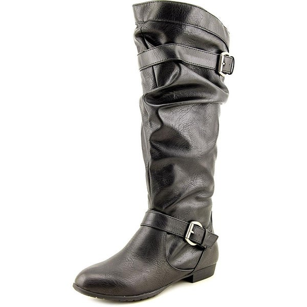 Rampage Basking Women Round Toe Synthetic Black Knee High Boot