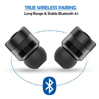 Mini True Wireless Bluetooth Twins Stereo In-Ear Earbuds Headset Earphonecolor Black