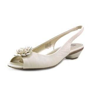 Anne Klein Larna Open-Toe Synthetic Slingback Sandal